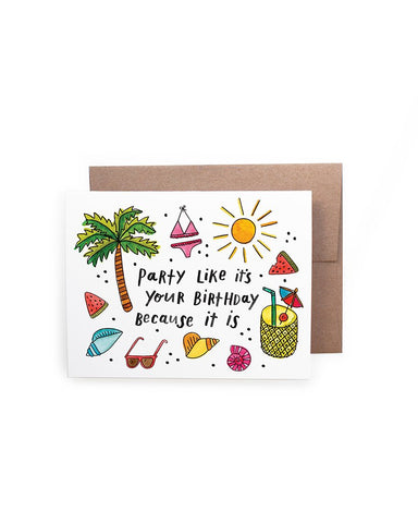 Party Birthday Card