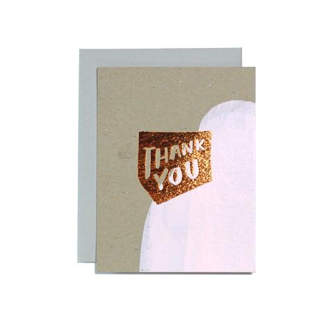 Copper Thank You Card