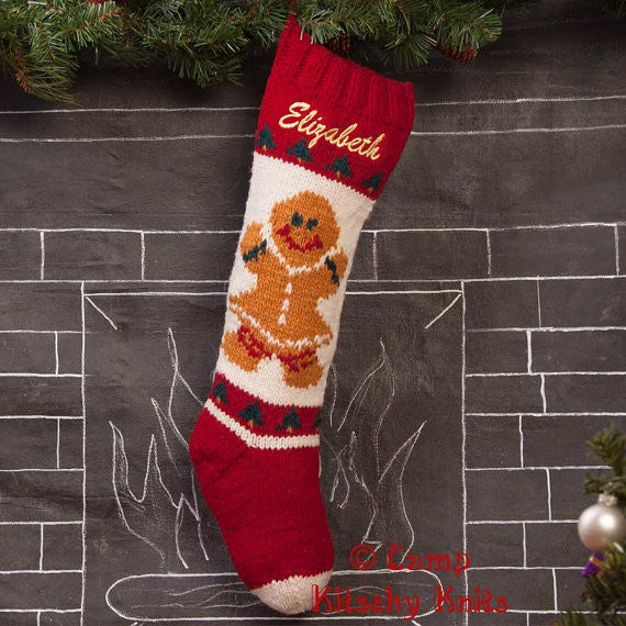 Gingerbread Girl Stocking