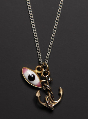Evil Eye and Anchor Necklace