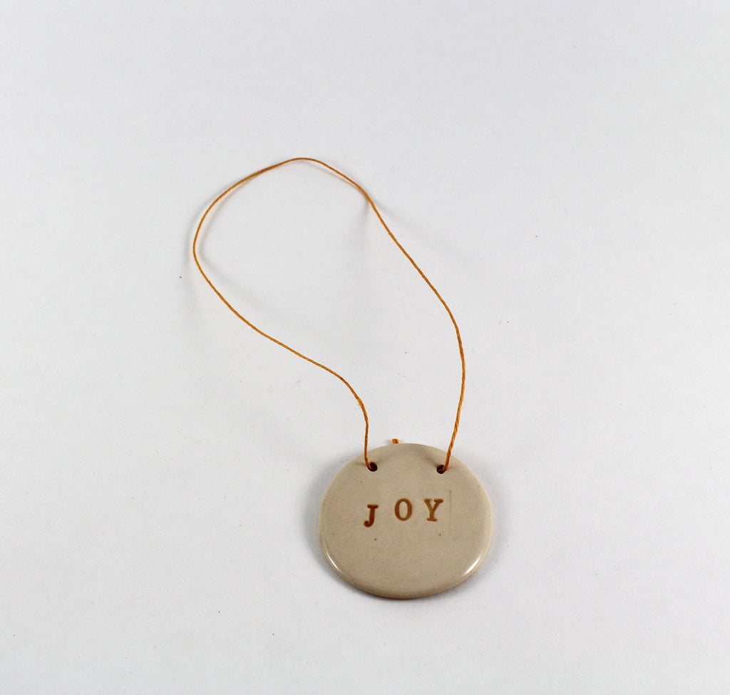 White Joy Ornament