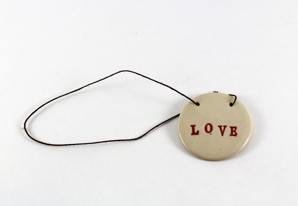 White Love Ornament