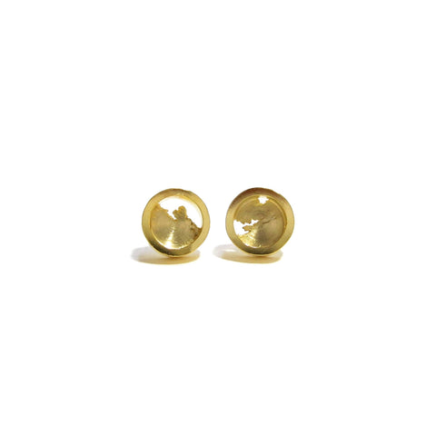 22K gold plated sterling silver torn studs