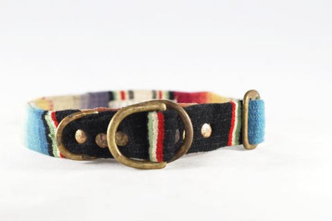 Serape Dog Collar (Black Stripes)