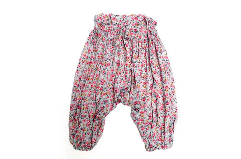Light Grey Floral Harem Pants