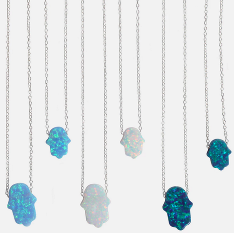 The Neshama Project Opal Hamsa Necklace