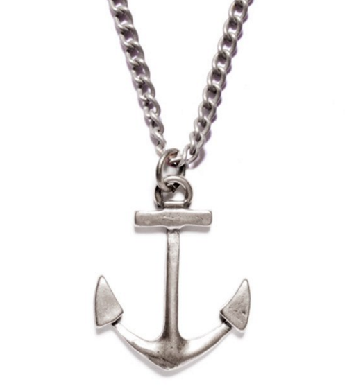 Silver anchor necklace chris mary silver anchor necklace aloadofball Images