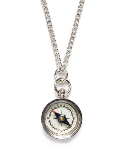 Mini Silver Compass Necklace