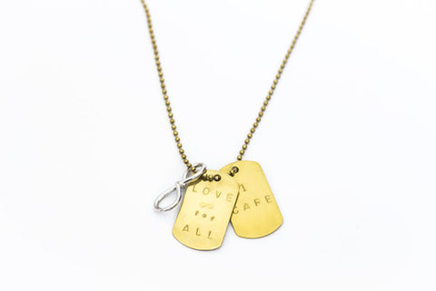 Love Infinity Dog Tags Brass