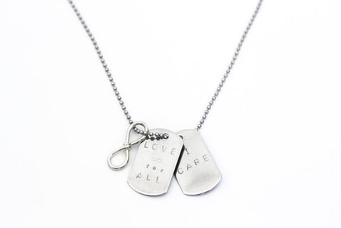 Love Infinity Dog Tags Silver