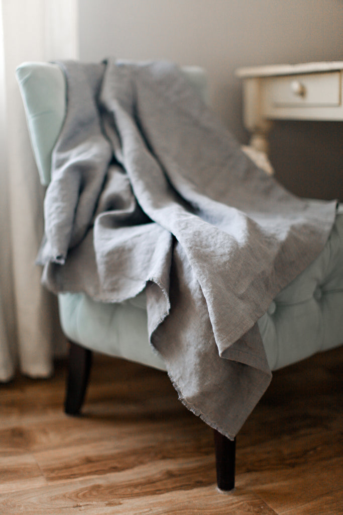Madly Wish - Slate Linen Throw