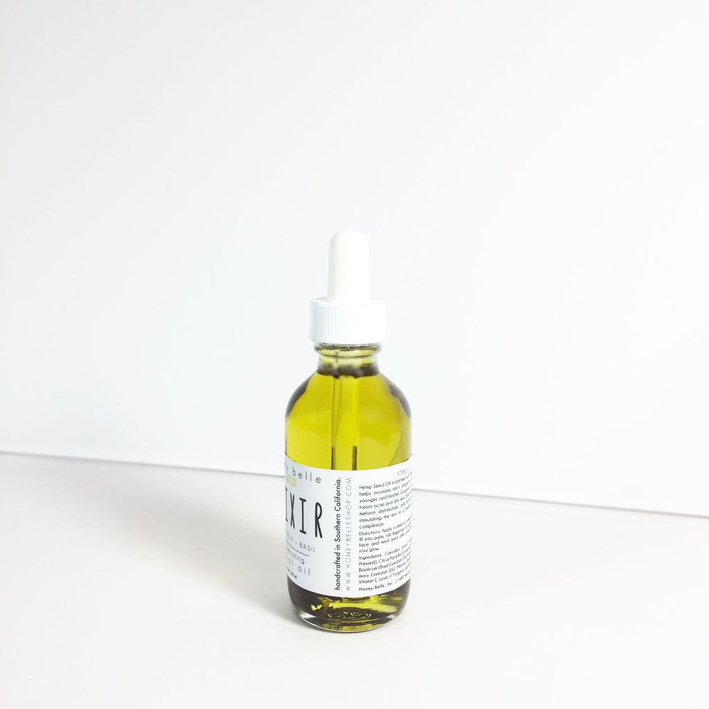 Honey Belle - Organic Facial Oil - Mini | Grapefruit, Basil Essential Oil