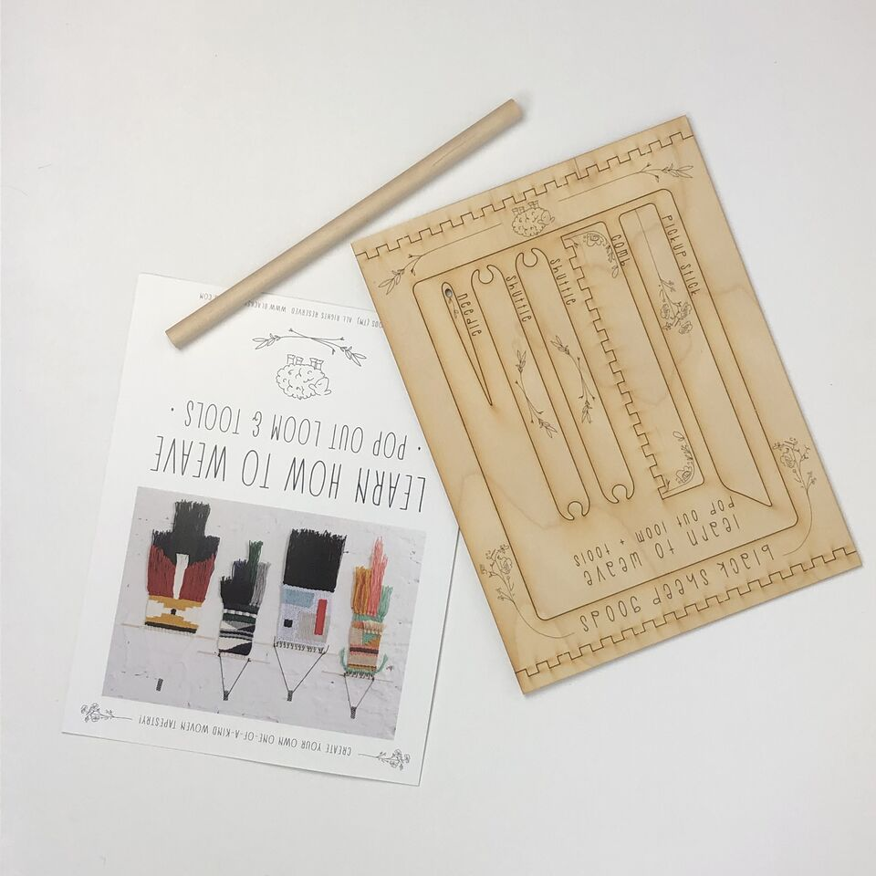 Black Sheep Goods - DIY Tapestry Weaving Kit