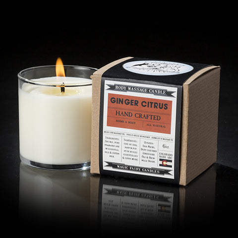 Magic Fairy Candles - Ginger Citrus 6oz Candles