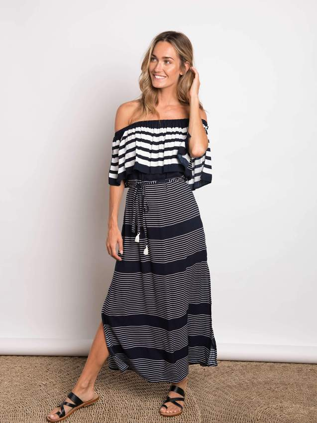 Stripe Kelly Maxi Navy