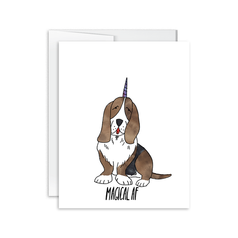 Hello Happiness Cards - Magical AF Basset Hound