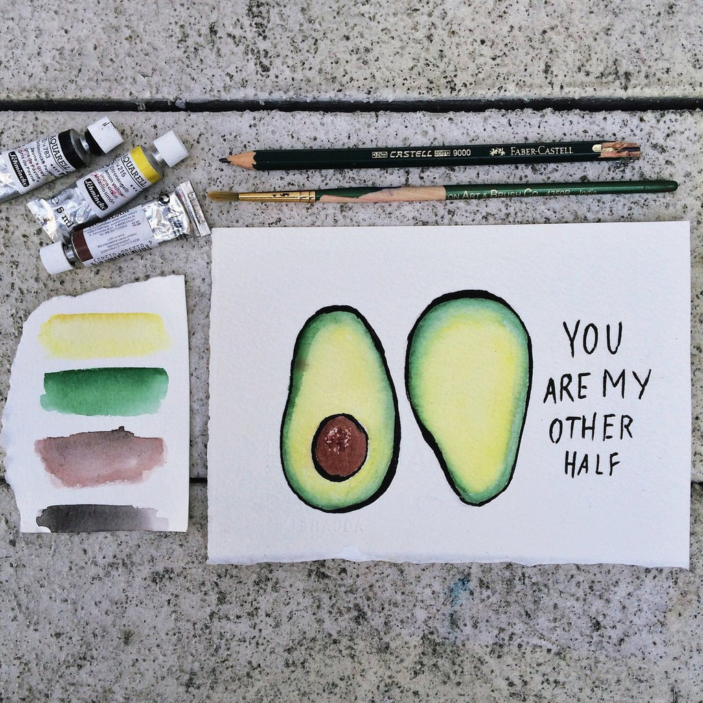 Jess Weymouth - Avocado Greeting Card