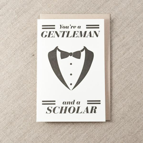 Pike Street Press - Gentleman & Scholar Greeting Card