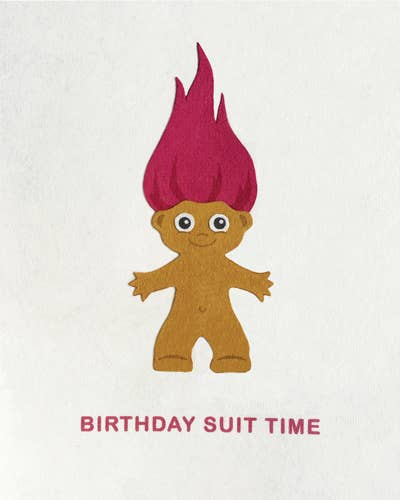 Birthday Suit Time Card