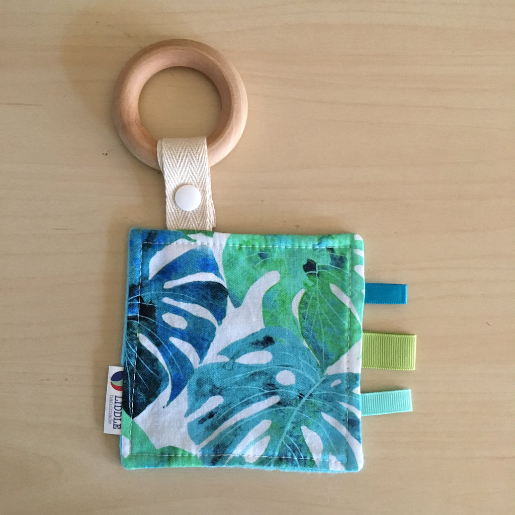 Liddle Handmade - Monstera Wooden Sensory Teether