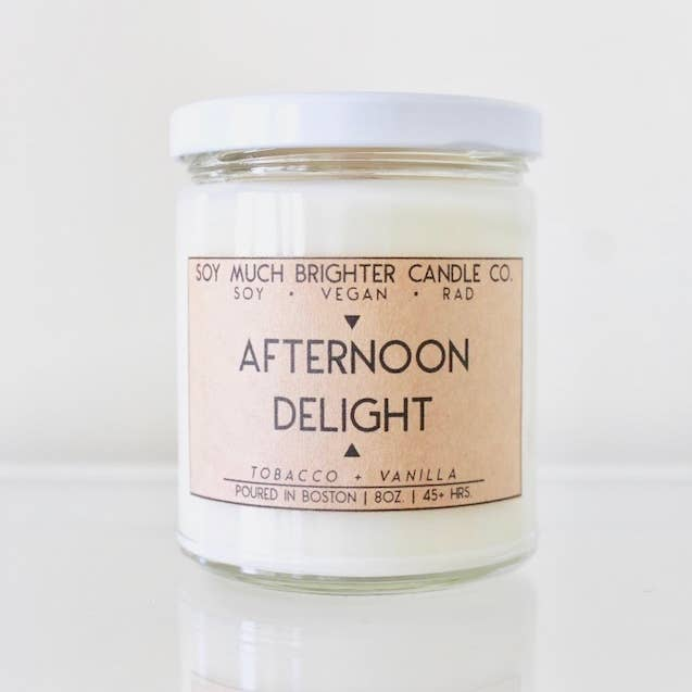 Soy Much Brighter Candle Co. - Afternoon Delight: Tobacco + Vanilla // 8oz