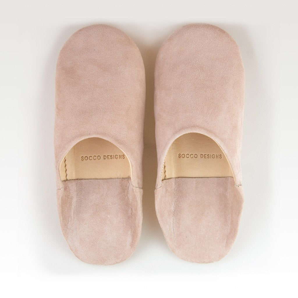 SOCCO WHOLESALE - Suede Slippers, Nude