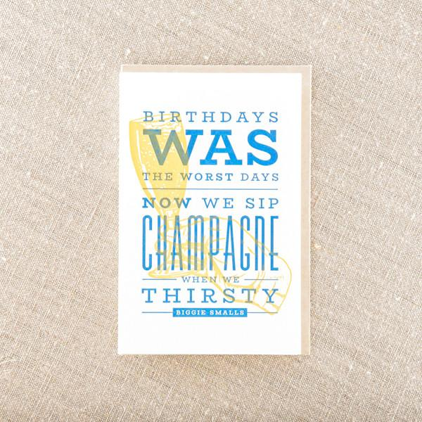 Pike Street Press - Sip Champagne On Birthday Greeting Card
