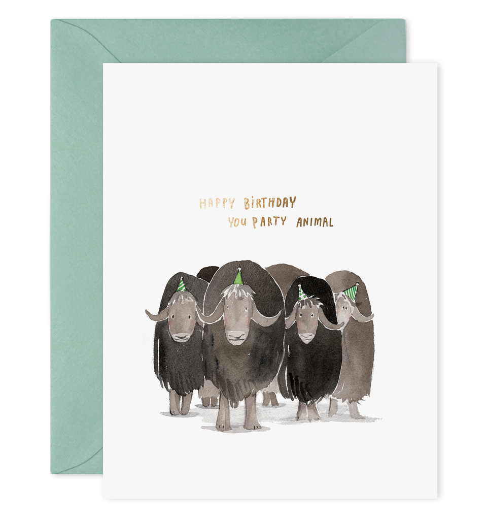 E. Frances - Party Animals Card