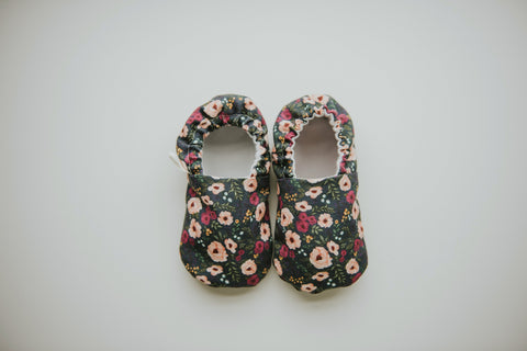 Fable Floral Organic Baby Moccs