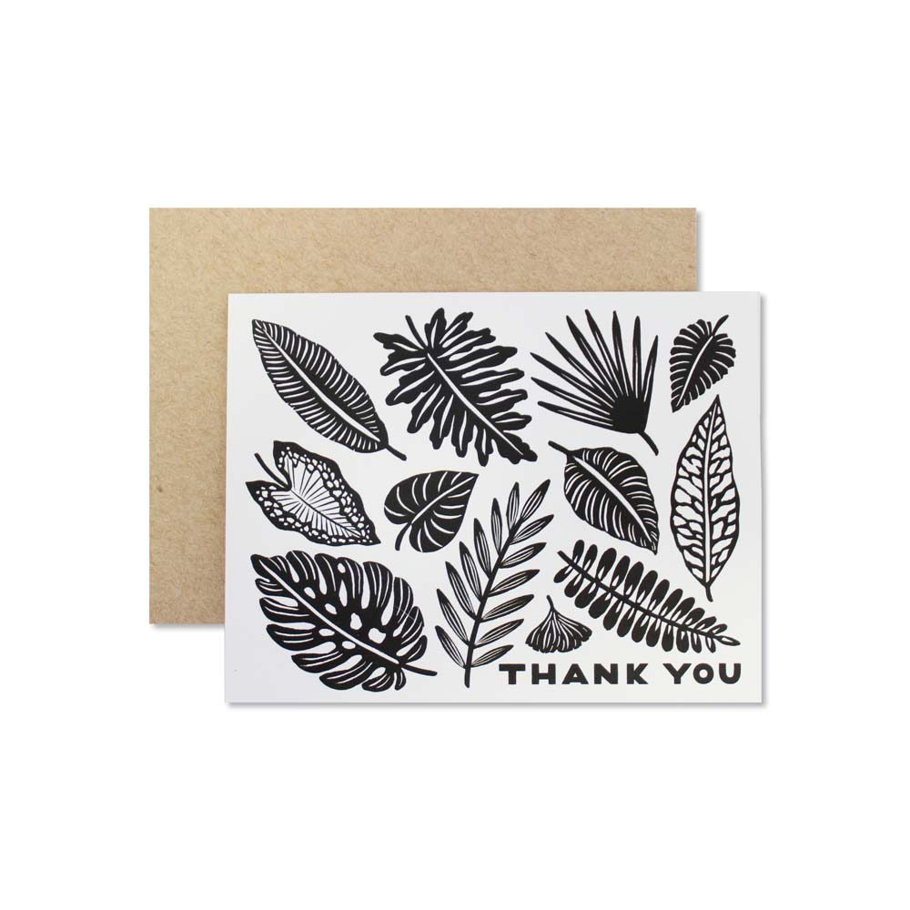 Wild Hart Paper - Thank You Leaves Card