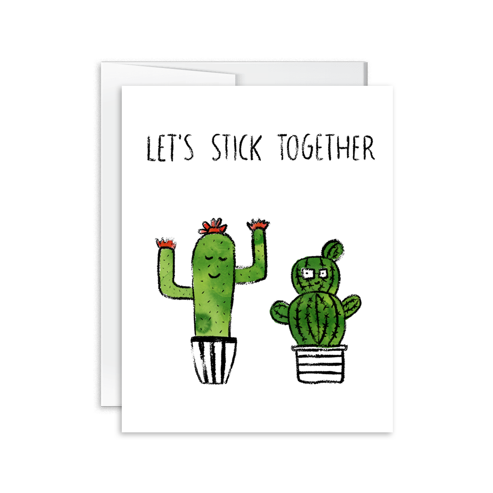 Hello Happiness Card Co - Let's Stick Together