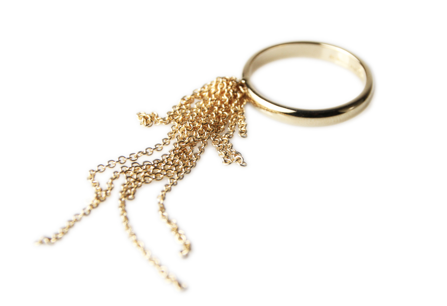Gold Dangle Ring