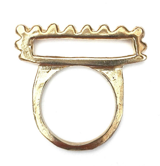 Gold Plate Gold Country Ring