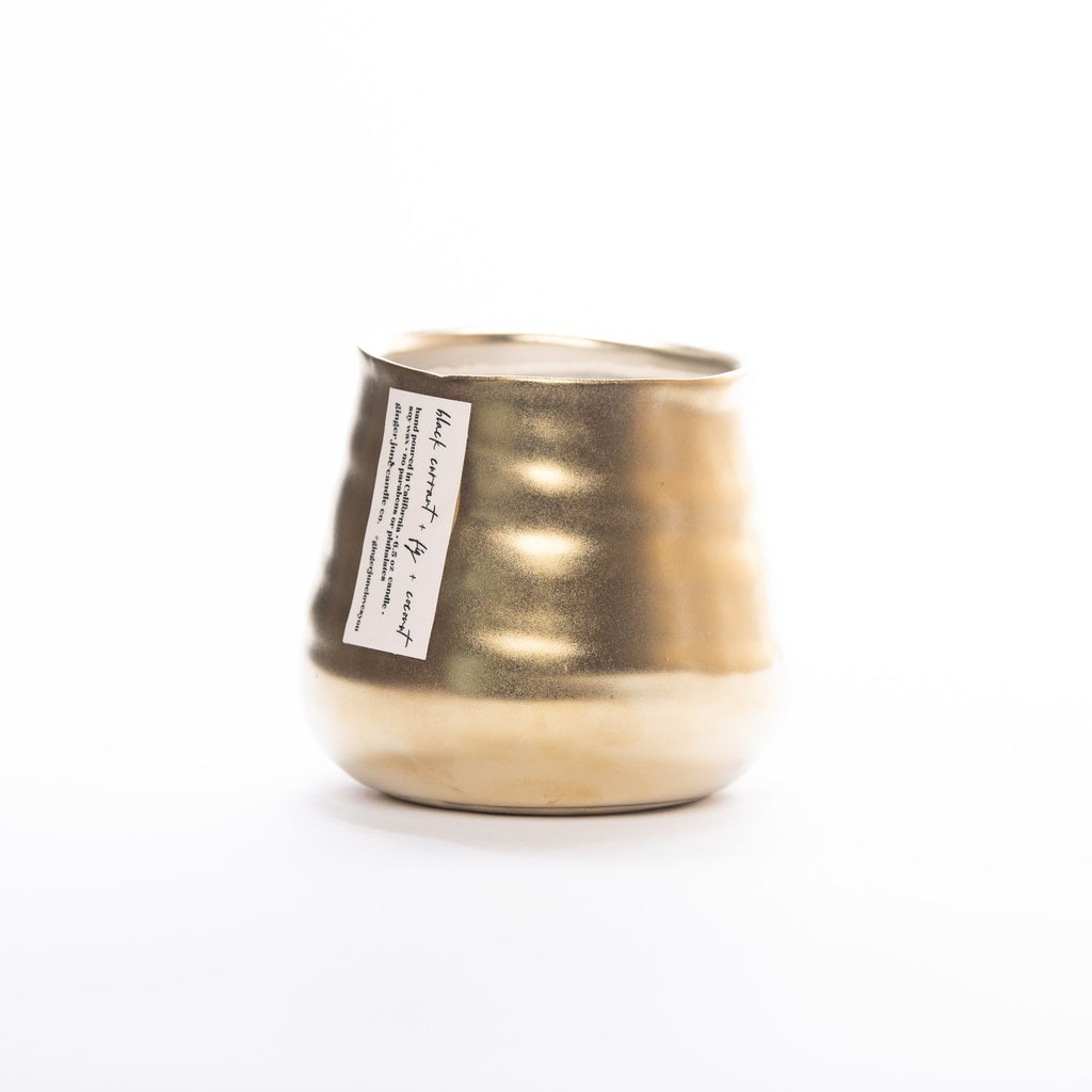 Gold Pinch Pot Candle