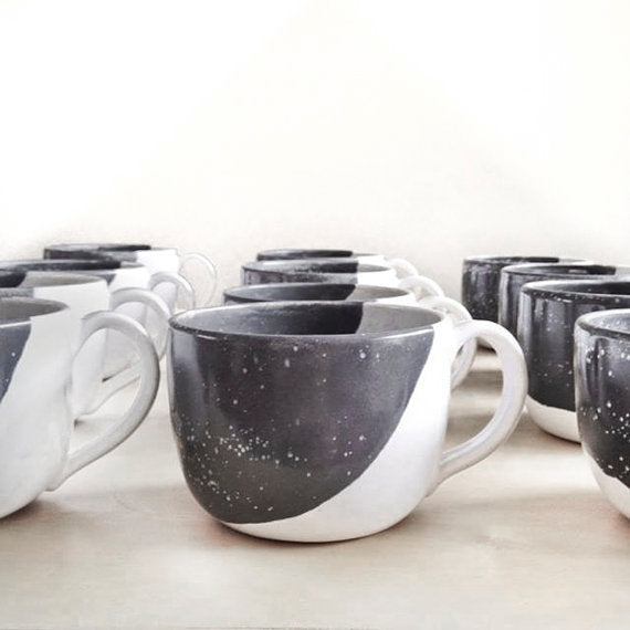 Grey/White Coffee Mug