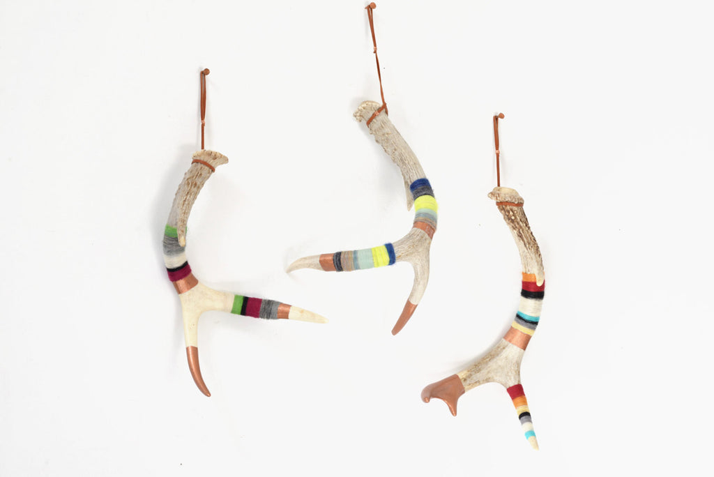 Small Yarn Wrapped Antlers