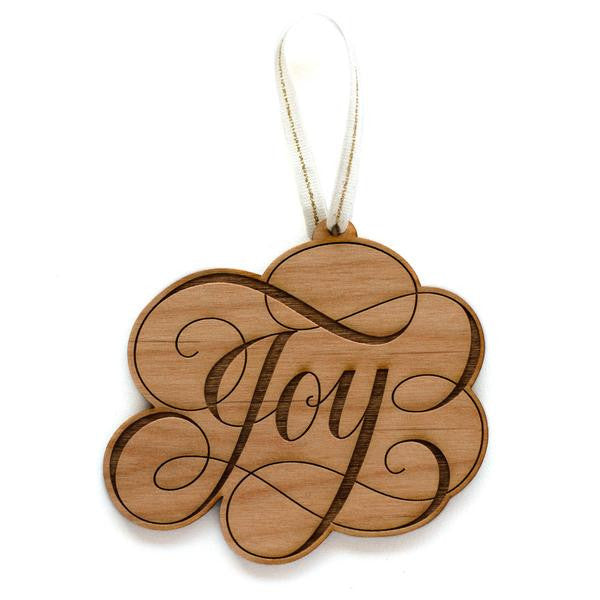 Wooden Ornament Joy