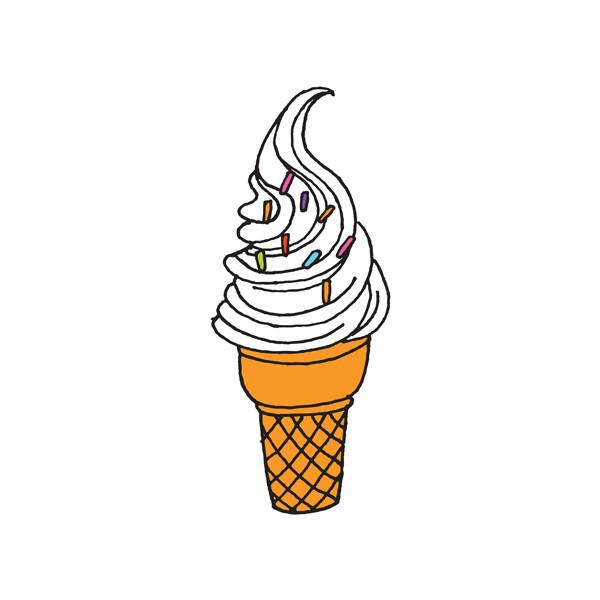Soft Serve Temporary Tattoo