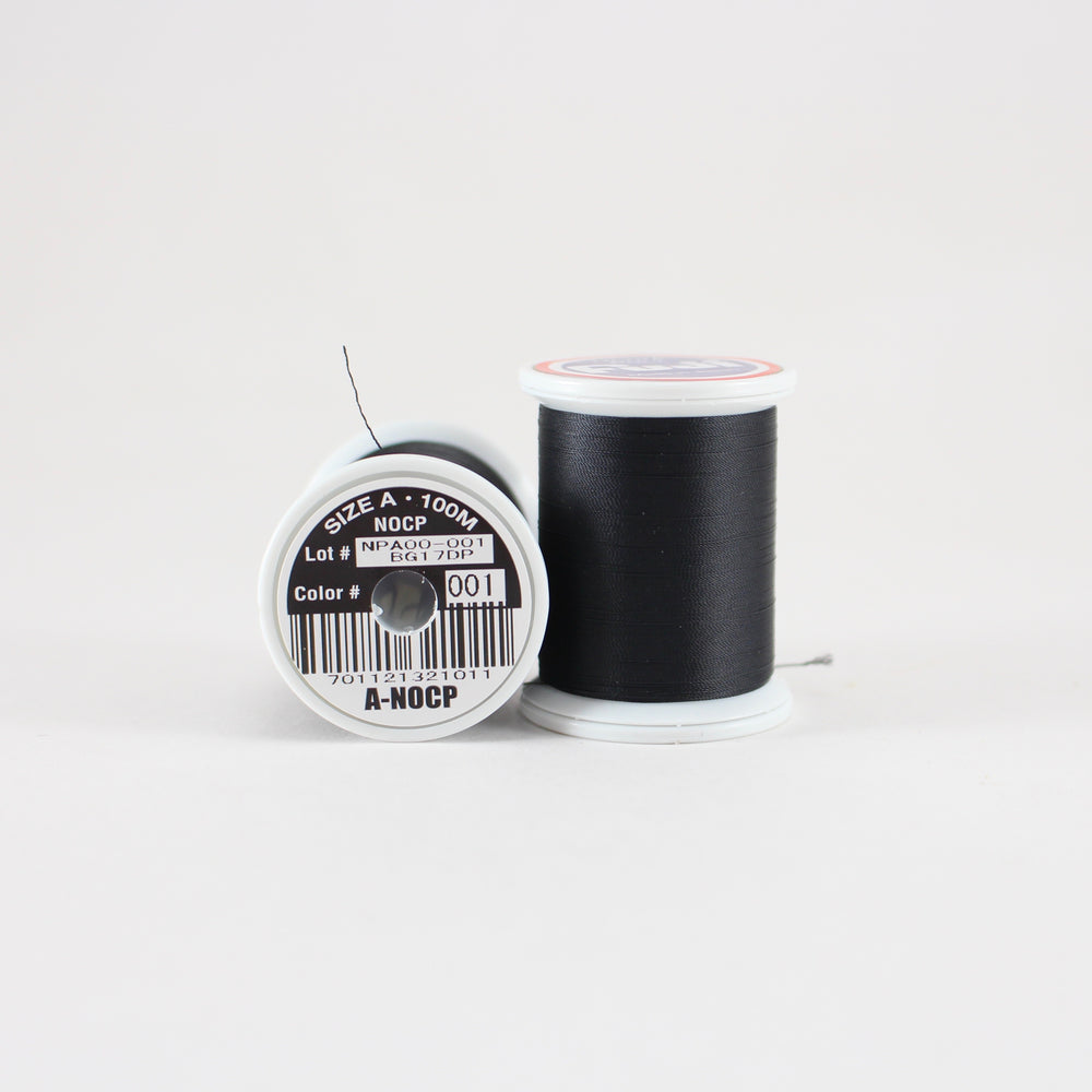 Fuji Ultra Poly NOCP rod wrapping thread in Black #001 (Size A 100m spool)