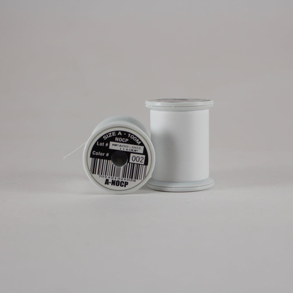 Fuji Ultra Poly NOCP rod wrapping thread in White #002 (Size A 100m spool)