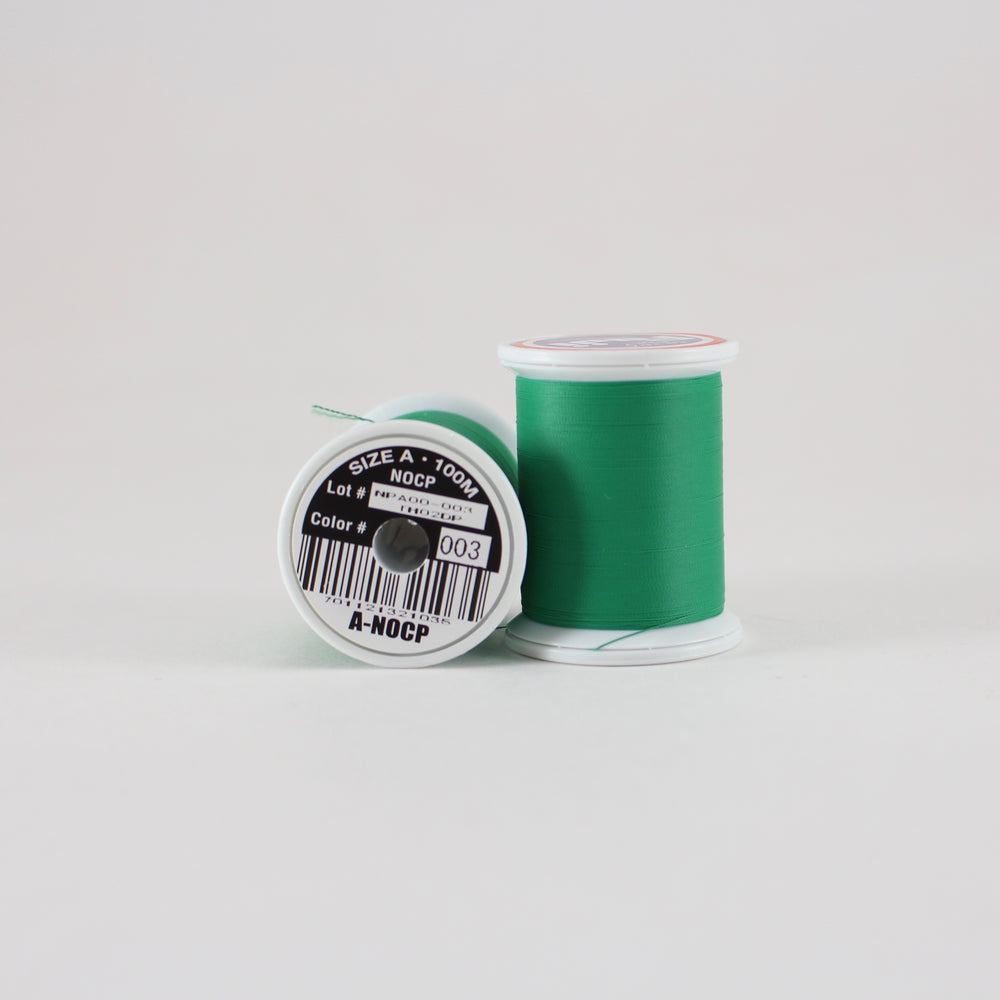 Fuji Ultra Poly NOCP rod wrapping thread in Dark Green #003 (Size A 100m spool)