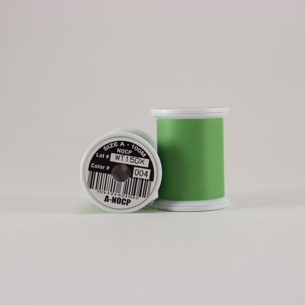 Fuji Ultra Poly NOCP rod wrapping thread in Medium Green #004 (Size A 100m spool)