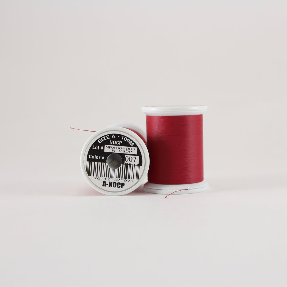 Fuji Ultra Poly NOCP rod wrapping thread in Garnet #007 (Size A 100m spool)