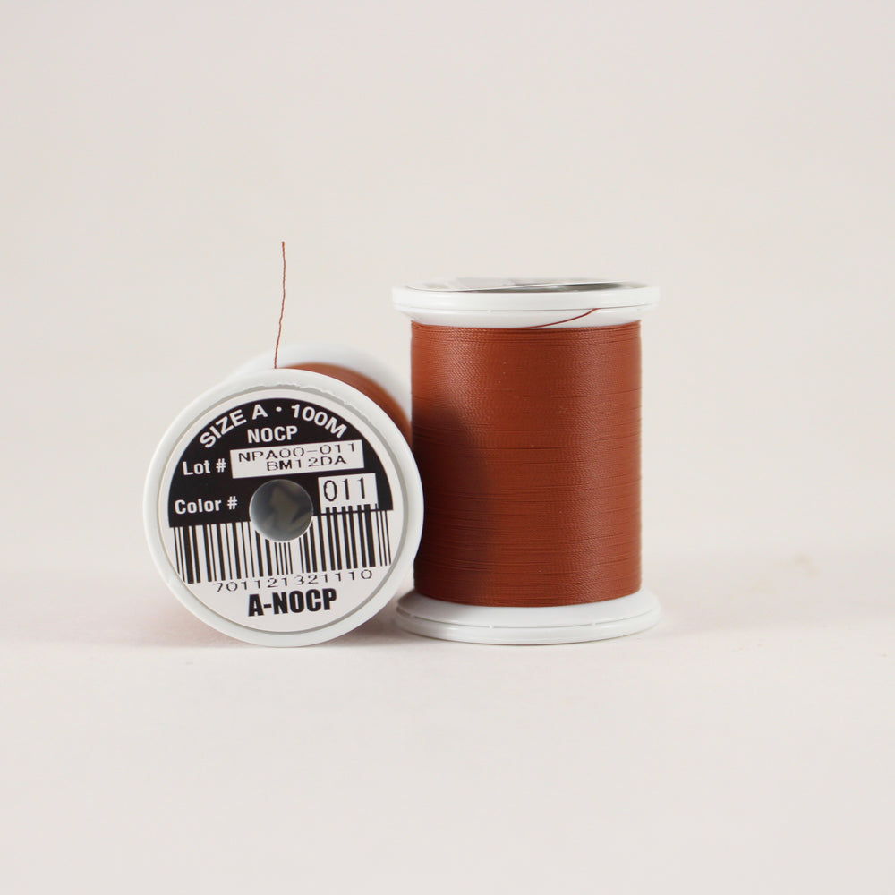 Fuji Ultra Poly NOCP rod wrapping thread in Chestnut #011 (Size A 100m spool)