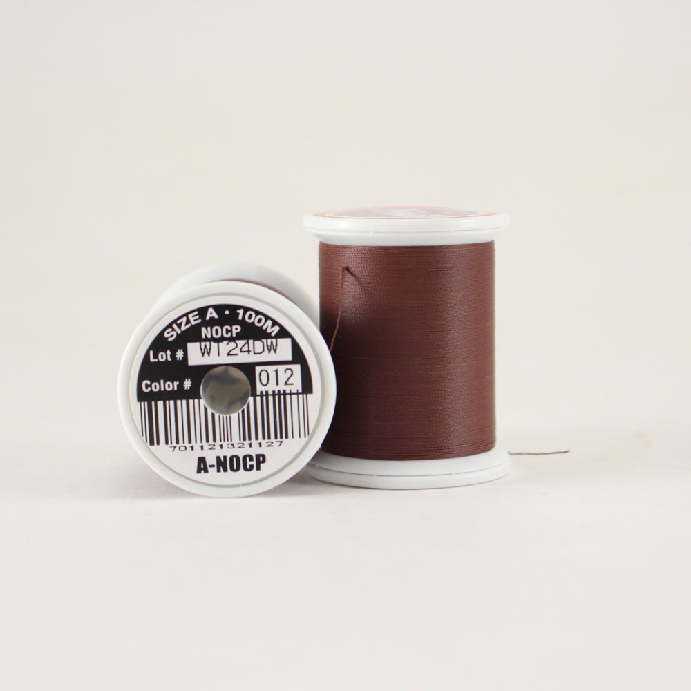 Fuji Ultra Poly NOCP rod wrapping thread in Dark Brown #012 (Size A 100m spool)