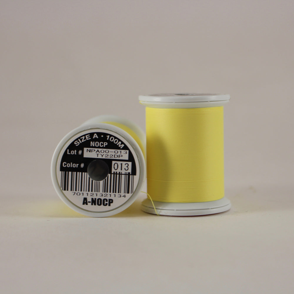 Fuji Ultra Poly NOCP rod wrapping thread in Yellow #013 (Size A 100m spool)