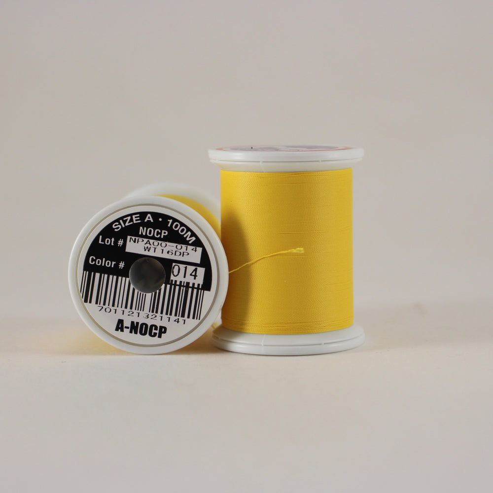 Fuji Ultra Poly NOCP rod wrapping thread in Goldenrod #014 (Size A 100m spool)