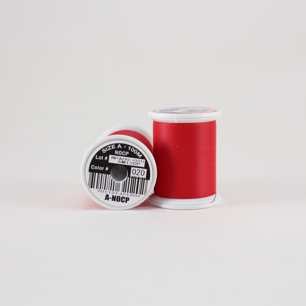 Fuji Ultra Poly NOCP rod wrapping thread in Candy Apple Red #020 (Size A 100m spool)