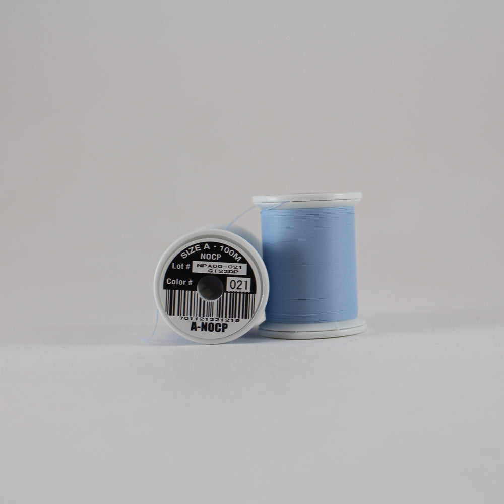 Fuji Ultra Poly NOCP rod wrapping thread in Light Blue #021 (Size A 100m spool)