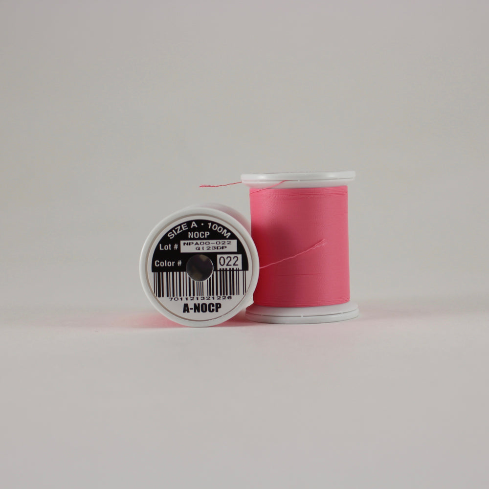 Fuji Ultra Poly NOCP rod wrapping thread in Hot Pink #022 (Size A 100m spool)